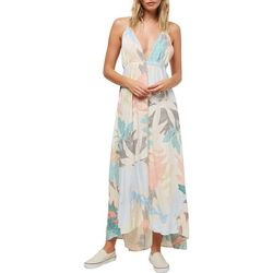O'Neill Juniors Kaitlyn All Over Leaves Print Maxi