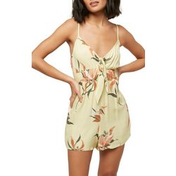 O'Neill Juniors Tatum Knotted Floral Romper