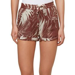 O'Neill Juniors Dante Palm Print Shorts
