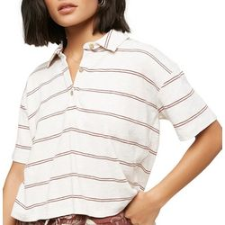 O'Neill Juniors Ace Striped Short Sleeve Top