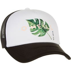 O'Neill Juniors Palm Leaf Screen Print Trucker Hat