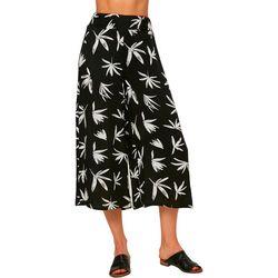 O'Neill Juniors Floral Print Gaucho Pants
