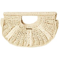 O'Neill Womens Natural Straw Clutch Bag