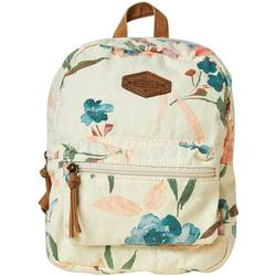 Womens Canvas Floral Backpack
