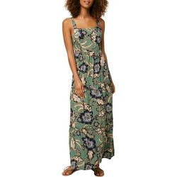 O'Neill Juniors Floral Maxi Dress With Square Neckline
