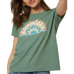 O'Neill Juniors Graphic Print Short Sleeve T-Shirt