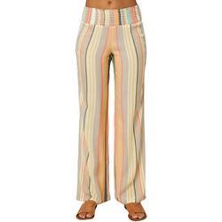 Juniors Stripes Flowy Pants