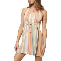 O'Neill Juniors Sunset Stripes Halter Dress