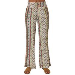 Juniors Floral Mix Flowy Pants