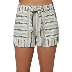 O'Neill Juniors High Rise Striped Shorts