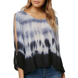 O'Neill Juniors Angela Cropped Tie Dye Top