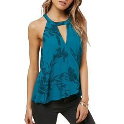 O'Neill Juniors Emison Floral Wrap Top