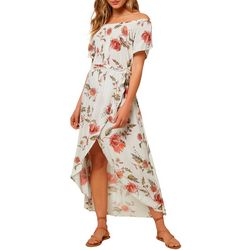 Juniors Connors Floral Off The Shoulder Dress