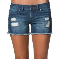 O'Neill Juniors Scout Distressed Denim Shorts