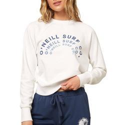 Juniors Long Sleeve Crew Neck Logo Sweatshirt