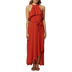 O'Neill Juniors Misty Ruffled Maxi Dress