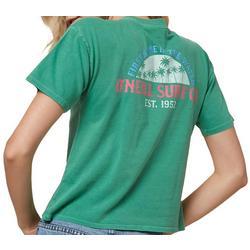Juniors Graphic Palm Tree Logo T-Shirt