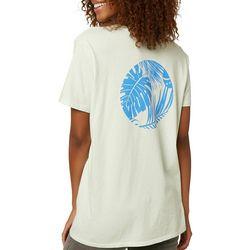 Juniors Graphic Palm Tree Short Sleeve T-Shirt