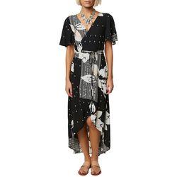 O'Neill Juniors Alamante Floral Wrap Dress