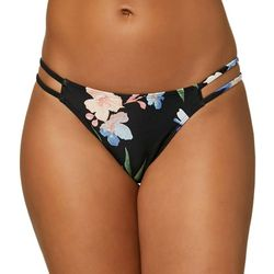O'Neill Juniors Floral Double Straps Cheeky Bikini Bottom