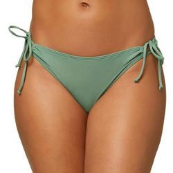 Juniors Solid Side Tie Bikini Bottom