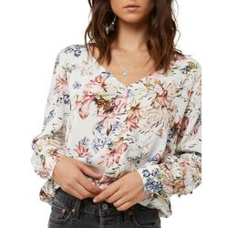 O'Neill Juniors Starling Floral Print Top