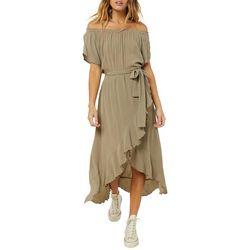 O'Neill Juniors Connie Ruffled Midi Dress