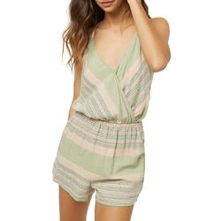 O'Neill Juniors Alex Striped Surplice Romper