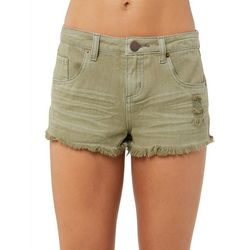 O'Neill Juniors Sayulita Distressed Denim Shorts