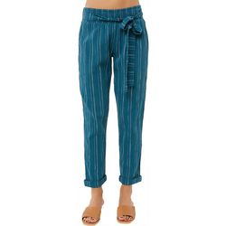 O'Neill Juniors Striped Coastal Woven Pants