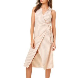 O'Neill Juniors Skylie Striped Midi Wrap Dress