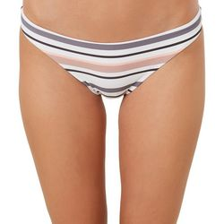 O'Neill Juniors Nova Revo Striped Hipster Swim Bottoms