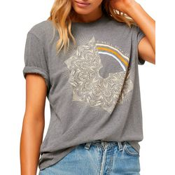 O'Neill Juniors Reflection Mandala Screen Print T-Shirt