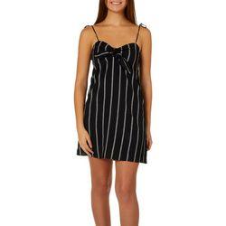 Billabong Juniors Sweet Pie Striped Bow Front Dress