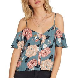 Billabong Juniors For You Floral Cold Shoulder Top