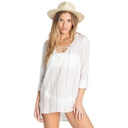 Billabong Juniors Same Story Striped Swim Cover-Up