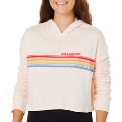 Billabong Juniors Rainbow All Day Striped Crop Hoodie