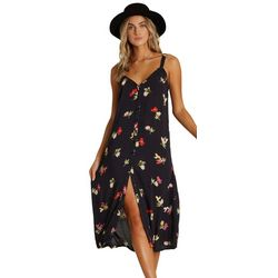Billabong Juniors Sweet Edges Floral Button Down Dress