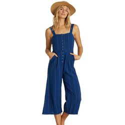 Billabong Juniors Paint The Town Striped Jumpsuit