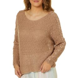 Juniors Chill Out Open Knit Sweater