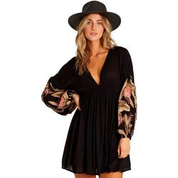 Billabong Juniors Wind Whispers Floral Sleeve Dress