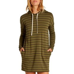 Billabong Juniors So Easy Striped Hooded Mini Dress