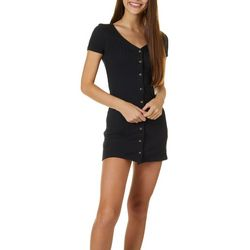 Billabong Juniors One With It Solid Ribbed Dress