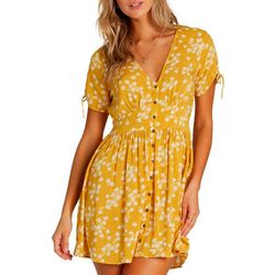Billabong Juniors Twirl Twist Floral Print Dress