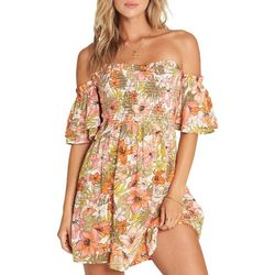Billabong Juniors Dancing Sun Floral Mini Dress