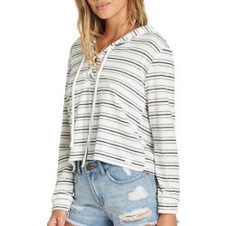 Billabong Juniors Striped Lace-Up Beach Sweater