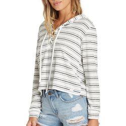 Billabong Juniors Striped Lace-Up Beach Sweater