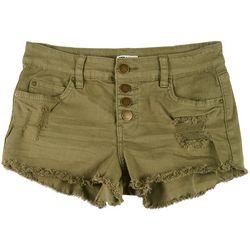 Billabong Juniors Buttoned Up Denim Shorts