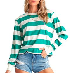 Billabong Juniors Run Stripe Long Sleeve Top