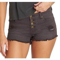 Billabong Juniors Buttoned Up Distressed Denim Shorts